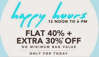 Flat 40% + Extra 30% Off on Men's & Wome's Clothing, Footwear & Accessories @ Jabong (Valid till 6.00PM Today) No Min Purchase