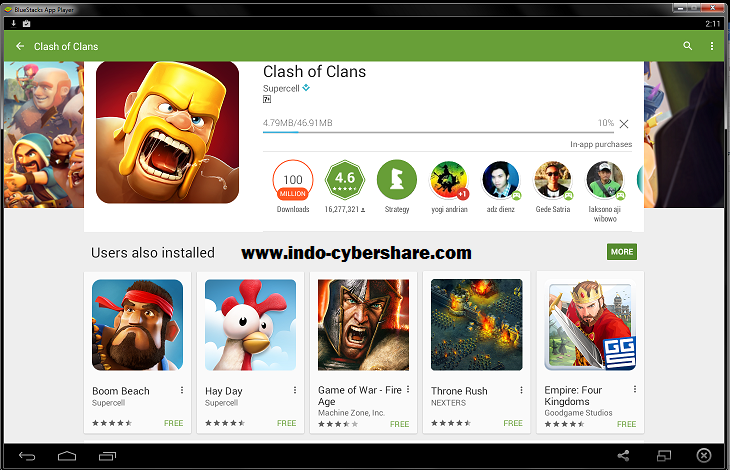 Clash of Clans di PC atau Laptop