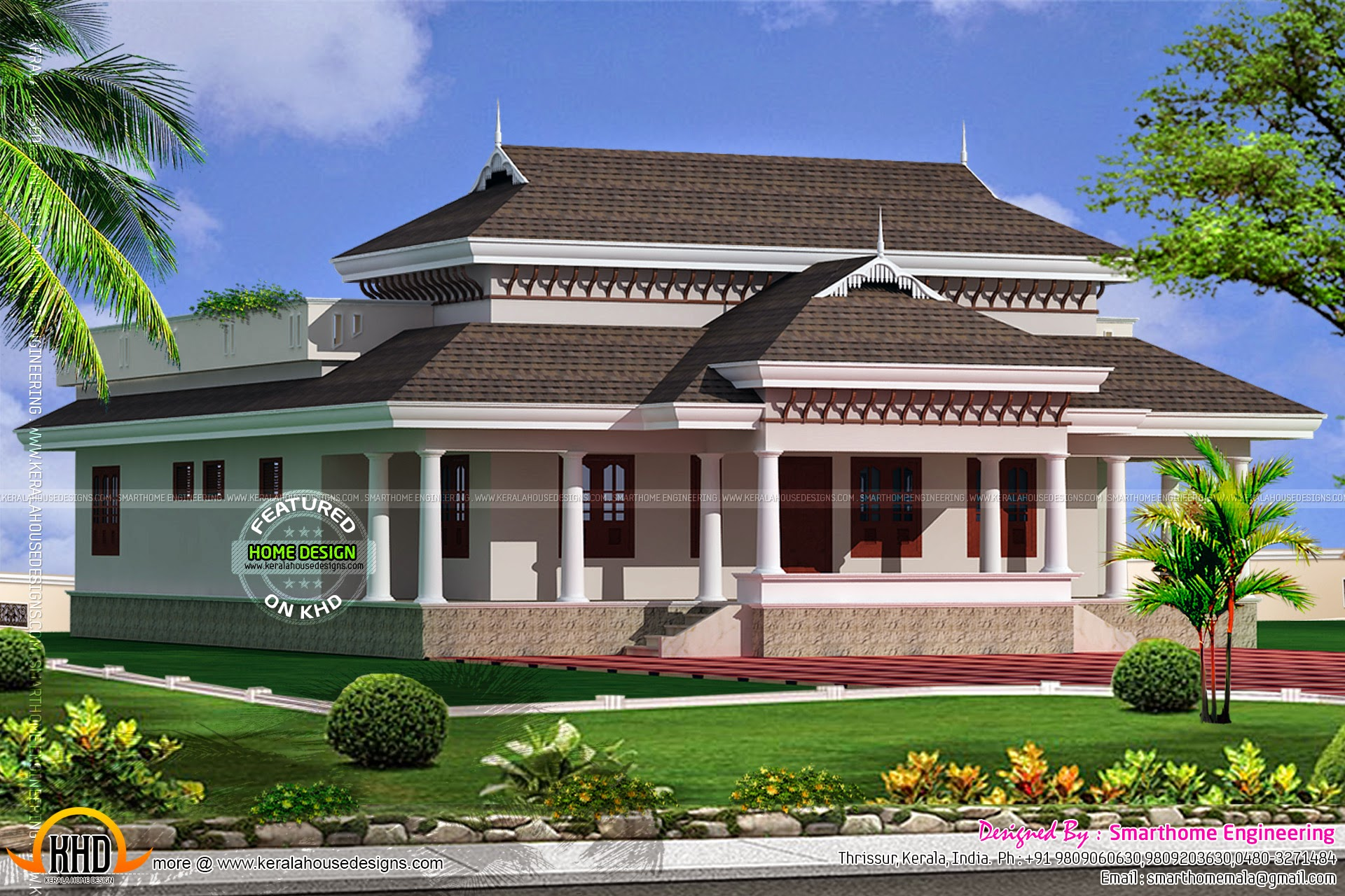 Kerala model traditional house kerala home design and for Traditional house plans in india
