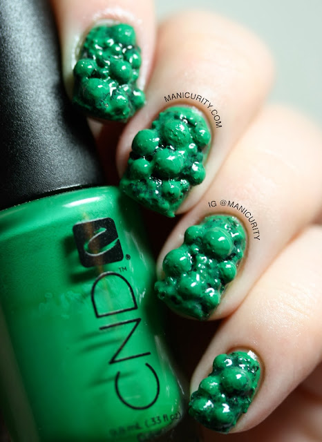 Manicurity | Unpolished Malachite 3D Nail Art