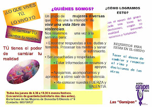 TODOS LOS JUEVES EN LA CASA DE LAS MUJERES.CRCULOS DE MUJERES LIBRES