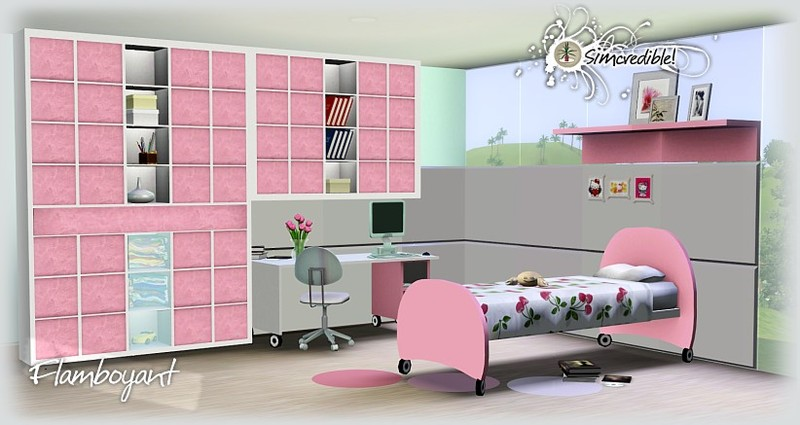My sims 3 blog flamboyant bedroom set by simcredible designs for Sims 3 bedroom designs