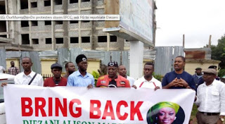 Protesters Storm EFCC, Demand For Diezani To Be Repatriated