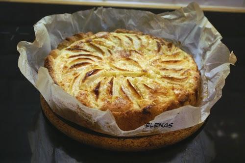 recept äppelpaj mandelmassa