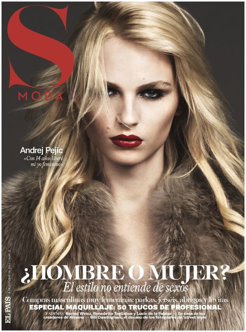 Andrej Pejic fashion cover
