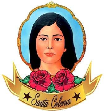 Imagen de Sarita Colonia con unas rosas rojas