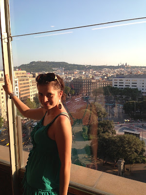 Барселона, вид с девятого этажа
