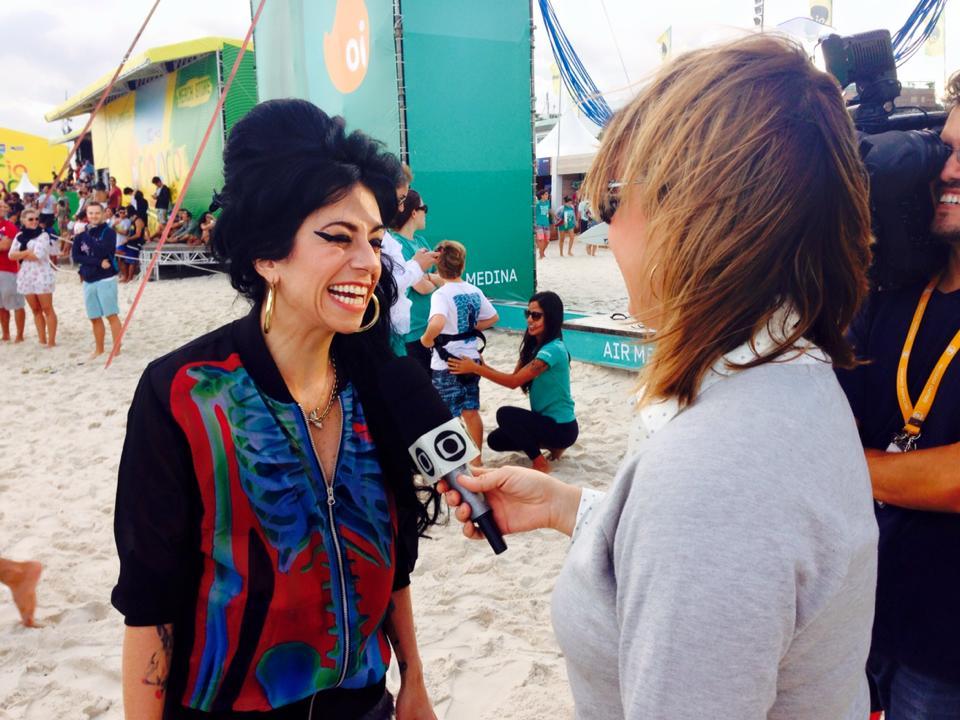 RJTV - Amy Winehouse Sósia no Campeonato Mundial de Surf