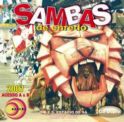 foto da capa do cd sambas de enredo 2007 grupo de acesso Rio