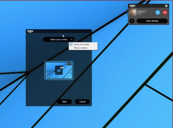 Cách chia sẻ màn hình Desktop trực tiếp qua Skype 2