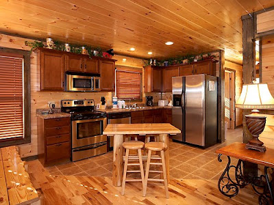 Beautiful Kitchen Cabinets and Ceiling by Using Wood