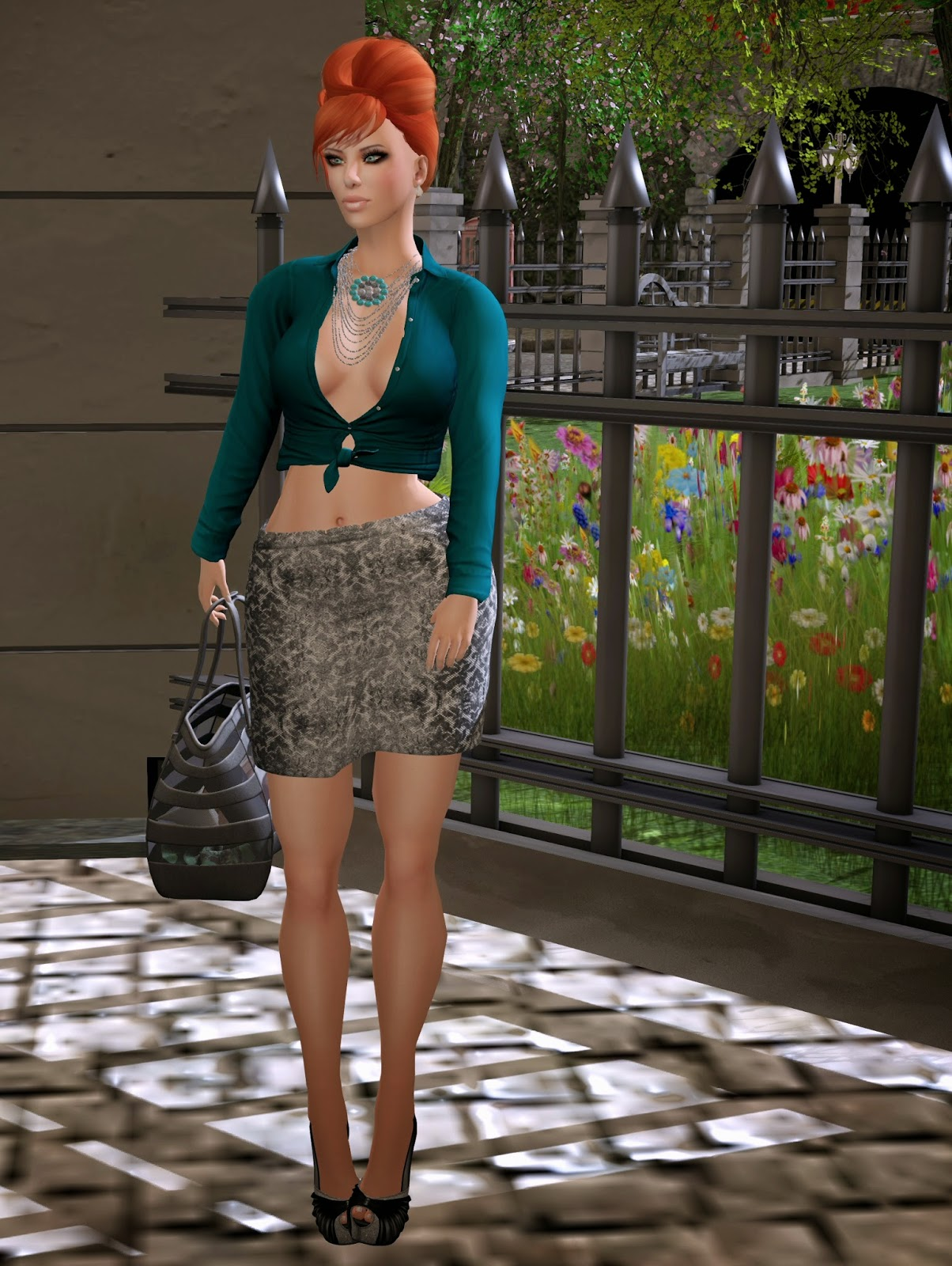 Drift top and skirt, Tableau Vivant Hair at Collabor88, ZOZ shoes