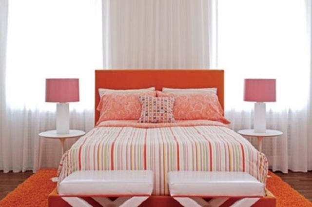 Dormitorios juveniles de color anaranjado - Cortinas de cuartos juveniles ...
