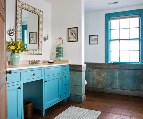 and how perfect does this deep blue vanity work in a boy 39 s bathroom