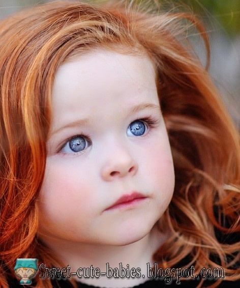 little, girl, redhead, blue eyes