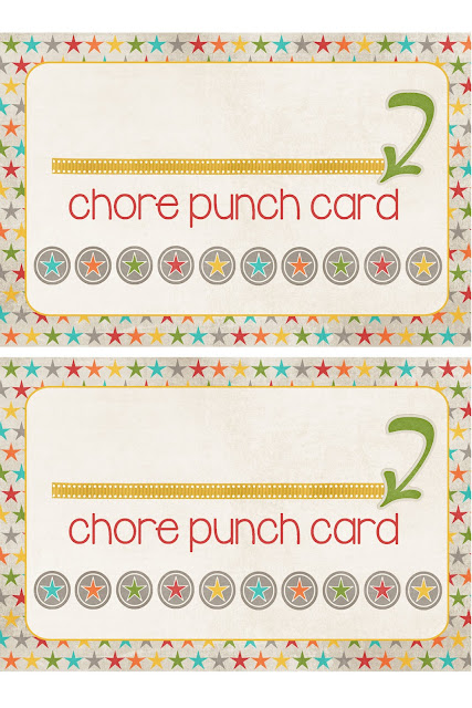 Impertinent image for printable chore cards