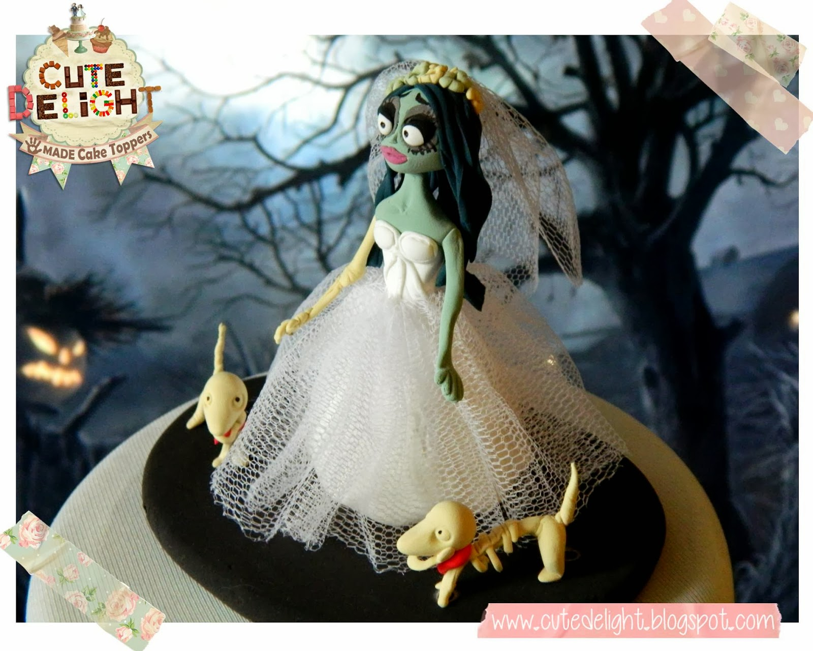 Corpse Bride Baby Shower Cake