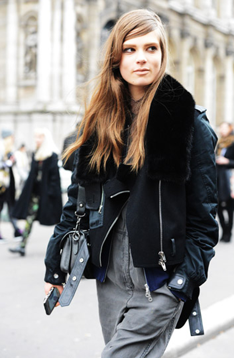 Caroline Brasch Nielsen Model Off Duty Tommy Ton