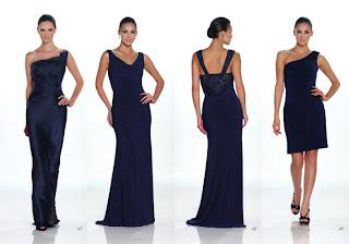 Vestidos Kathy Hilton 2012 color Azulino
