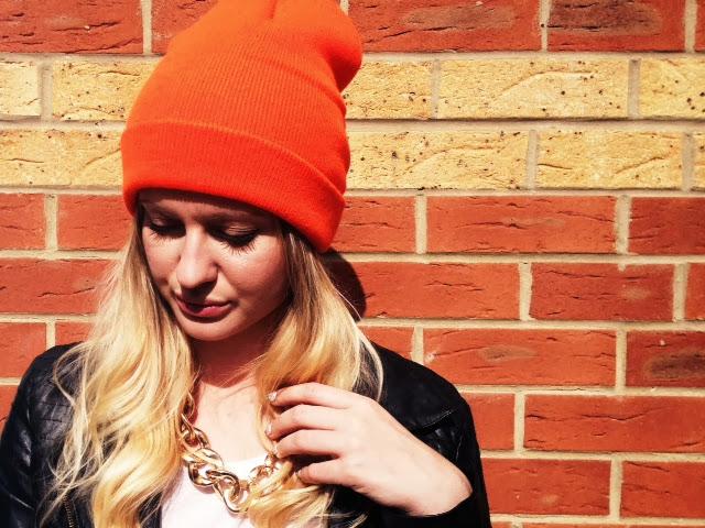 autumn trends, autumn winter hat trends, beanie hats, fashion beanie hats, fashion blog, style blog, FashionFake, American Apparel Neon Beanie