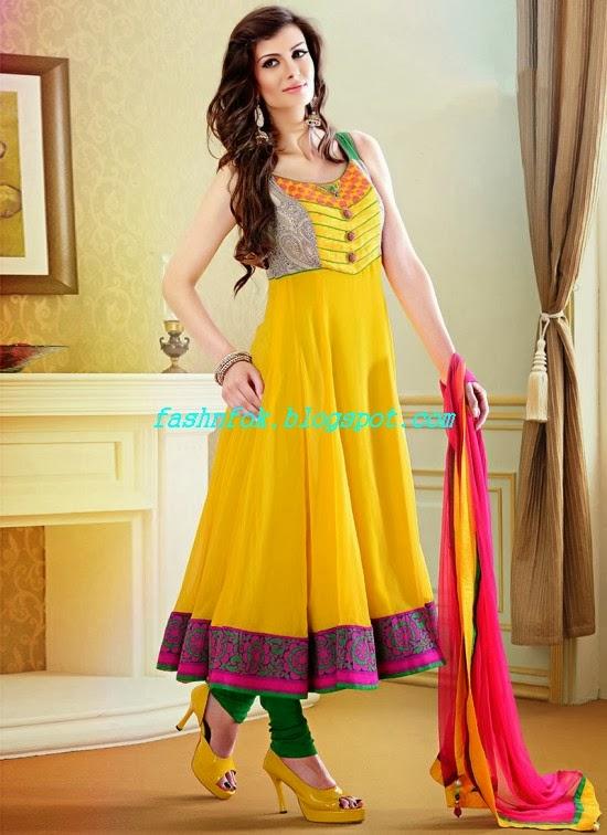 Anarkali Frocks Gorgeous Fancy Wedding-Bridal Wear Dresses 2013-2014 ...