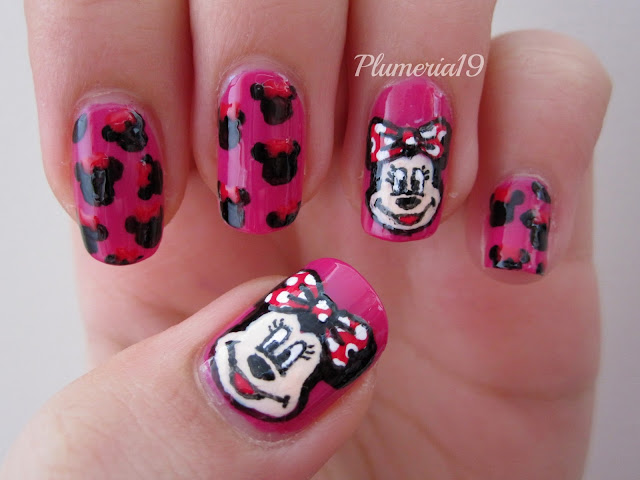 During my 31 day challenge last year I did a Minnie mouse-esque design