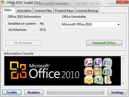 activator office 2010