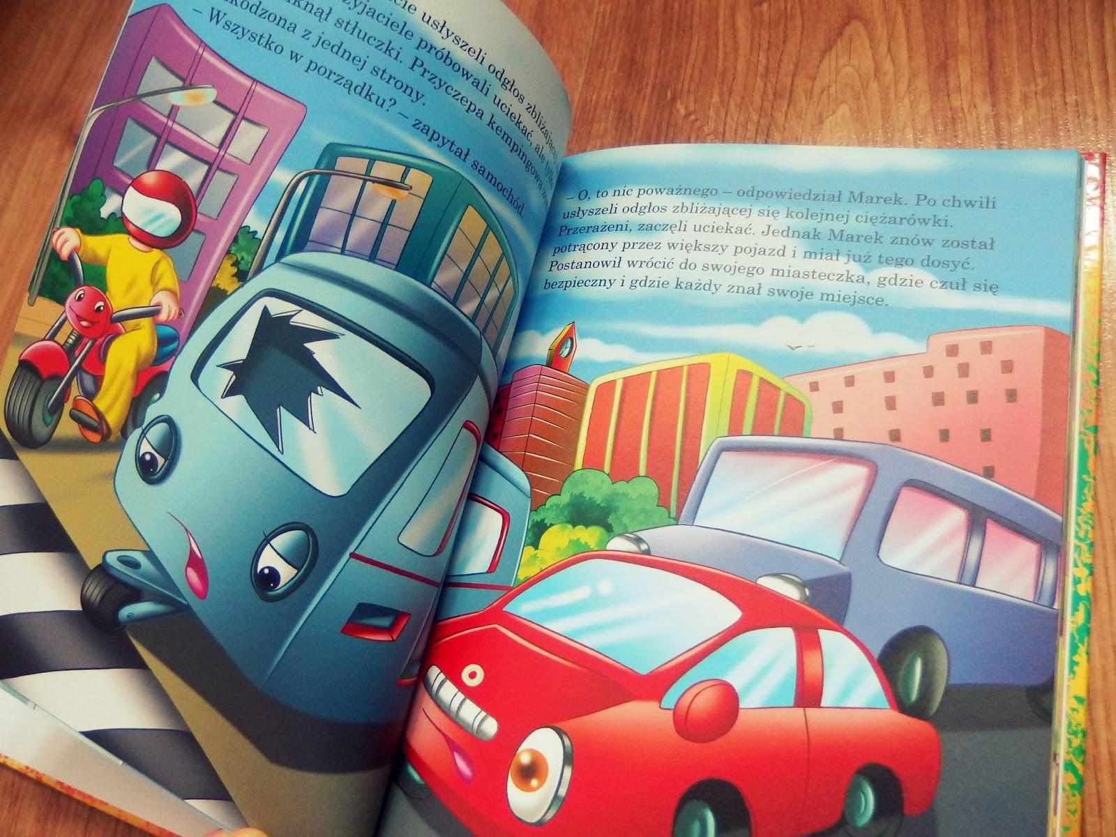 strona z książki o pojazdach