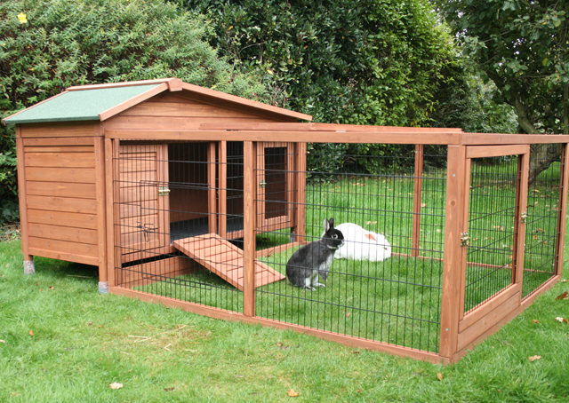 Hd animals outdoor rabbit cages for Cage lapin exterieur