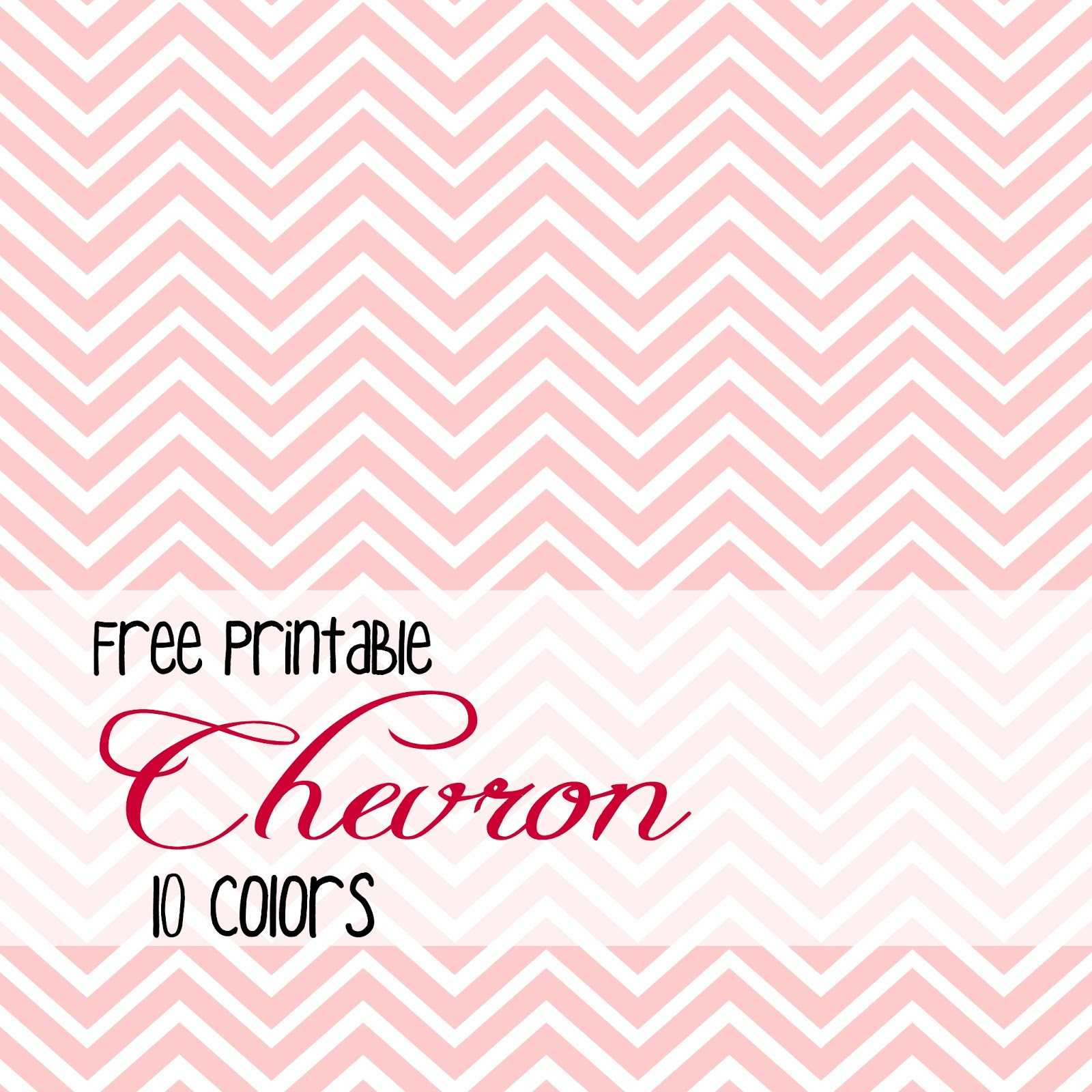 Snack Cups and Smiles: free chevron printables