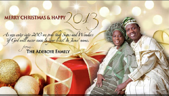 pastor adeboye family christmas card