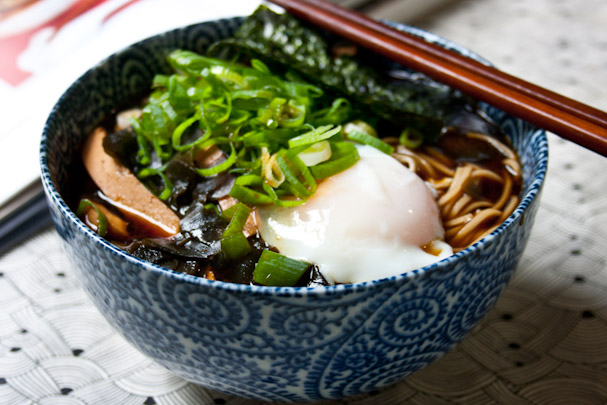 ... Miso Soba 味噌そば Soba Noodles In Miso Soup With Hot Spring Egg