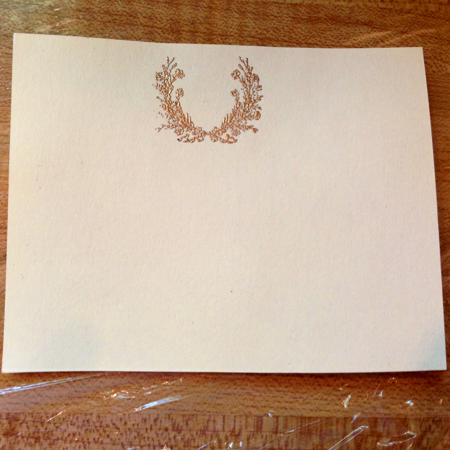 the finished product a beautiful embossed note card - Embossed Note Cards