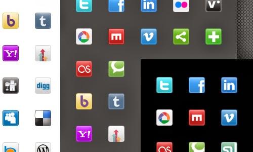 Social Media And Blogging Icon Set
