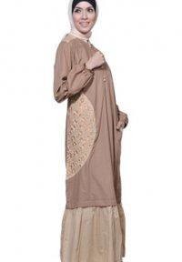 Manet Gamis - 3167 Coklat (Toko Jilbab dan Busana Muslimah Terbaru)