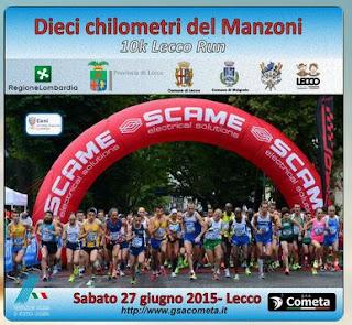 RISULTATI 10 km del Manzoni 2015