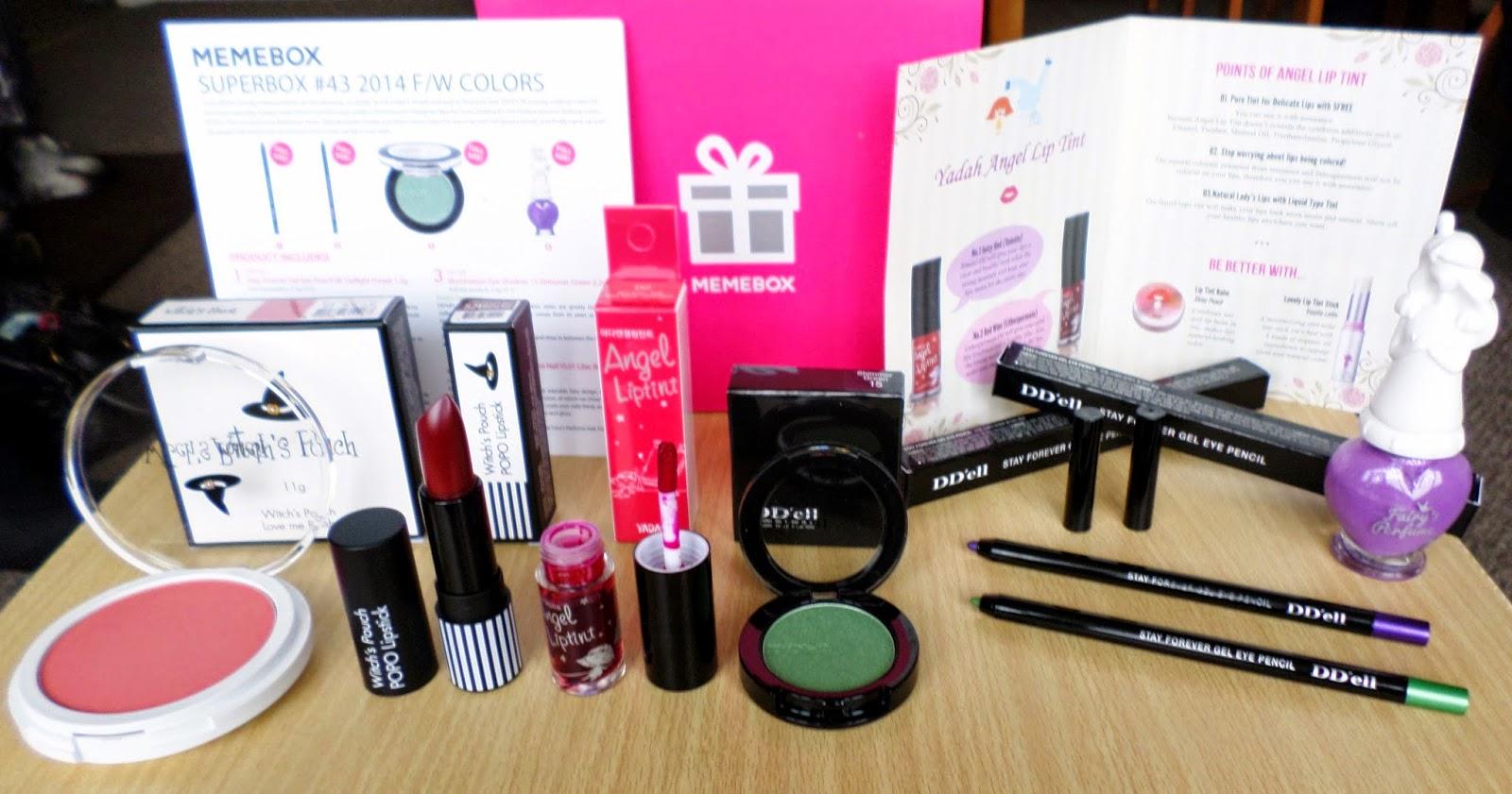 MEME Makeup Superbox #43 2014 FW Colors