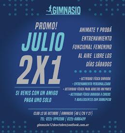 Promo mes de Julio, Gimnasio Club 12 de Octubre