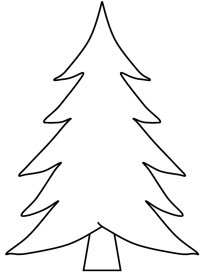 Xmas Tree Outline on Snow 1 Inch To 2 Feet