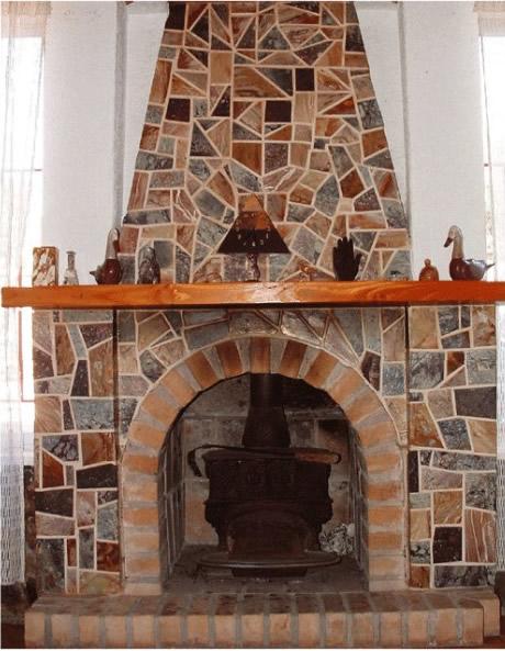 Chimenea de piedra laja - Planos de chimeneas de ladrillo ...