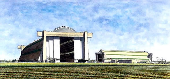 Marine Corps Air Station, Tustin - The Blimp Hangars - LTA - 1988