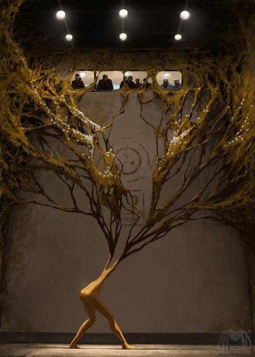 Alex Andreyev deviantart ilustrações ficção científica surreal terror