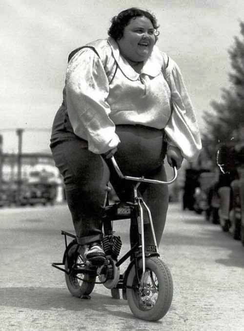 on Fat motorcycle girl
