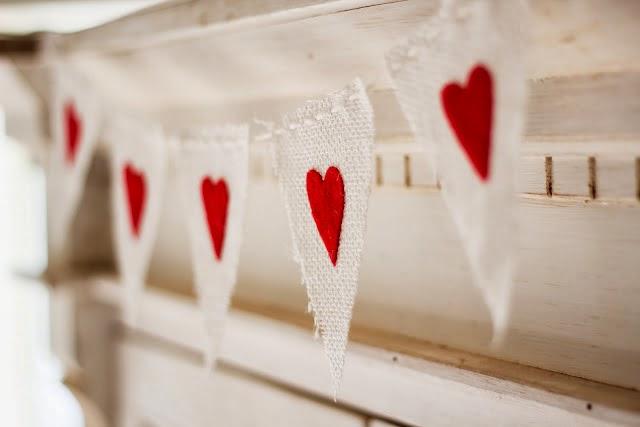 DIY guirnalda San Valentin. Valentine's banner