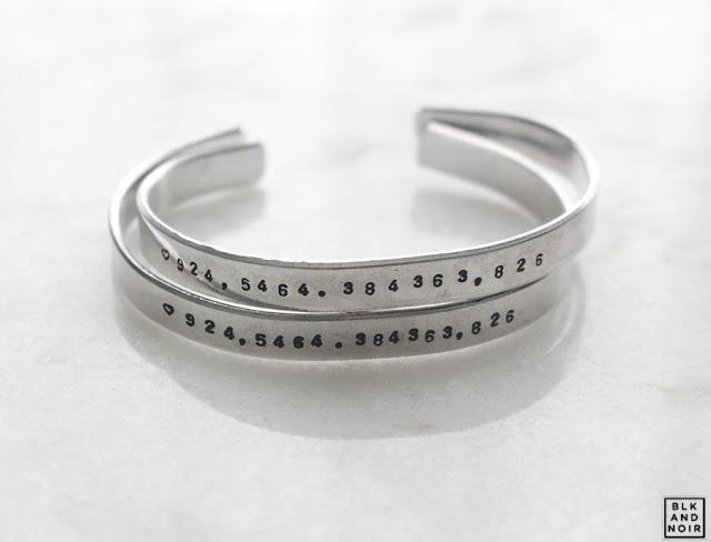 coordinates bracelet - blkandnoir