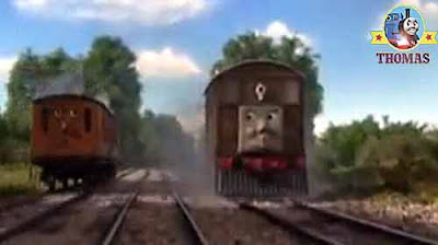 Train Thomas the tank engine colorful rainbow in the sky his old wooden friend Toby the tram engine