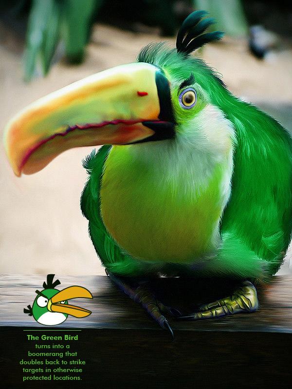 Green boomerang angry birds