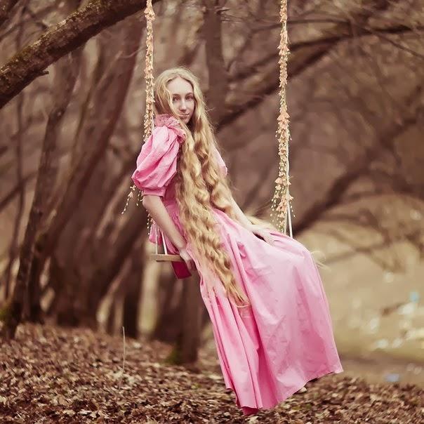 Most beautiful girls - Girls with long hair - Russian girl Anastasia.