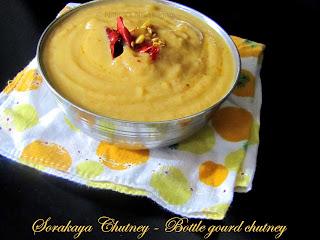 Sorakaya Chutney - Bottle gourd Chutney