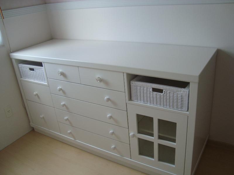 Cômoda para quarto de bebê  Marques Marcenaria